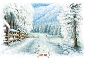"Фон стена ""Winter wall №1"""