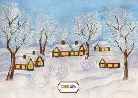 """Фон стена """"Winter-time"""""""